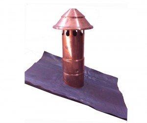 pinocchio con sfiato completo per tetto in alluminio tinta rame